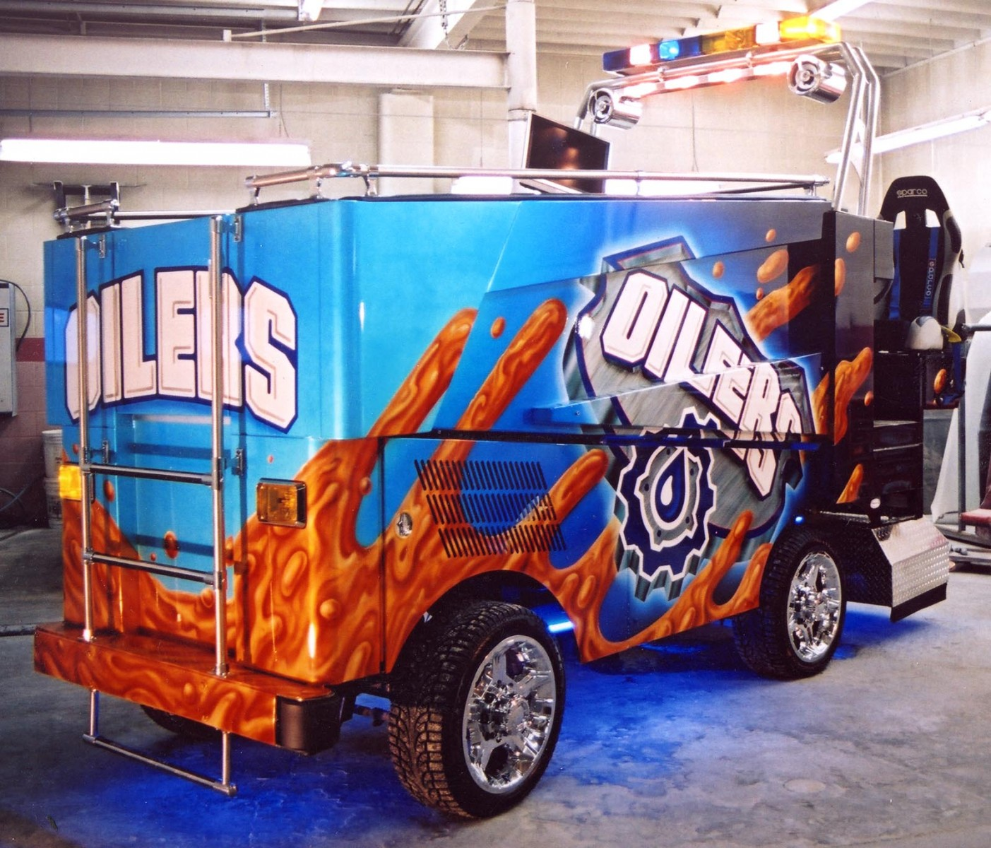Advertising flying colors murals for Zamboni room design